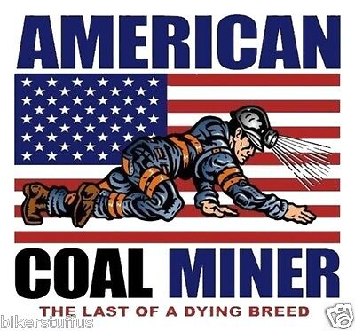 American Coal Miner The Last Of A Dying Breed Hard Hat Sticker With Us Flag