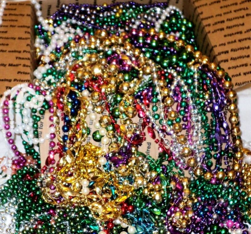 15 Pounds of LONG New Orleans Mardi Gras Party Beads