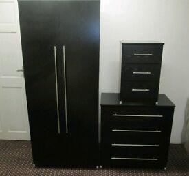 Black Wardrobe Set