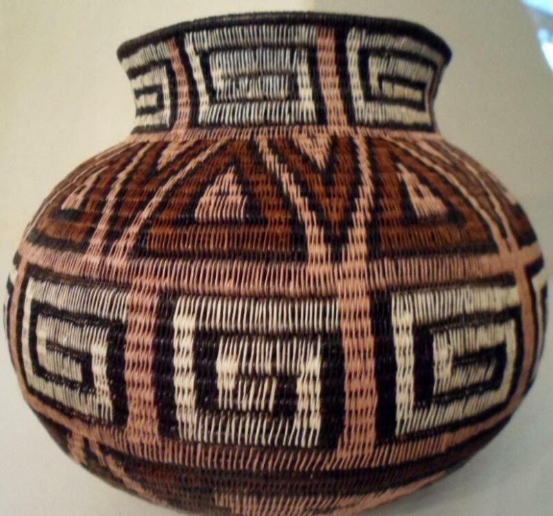Wounaan Embera Woven Classic Design Basket-Panama 21031702mm