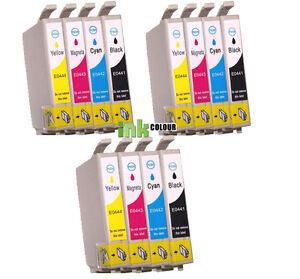 12 Ink Cartridges Fits For Epson C64 C66 C84 Cx3600 Cx3650 Stylus Printer