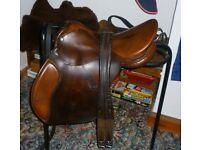 Leather Horse Riding Saddle