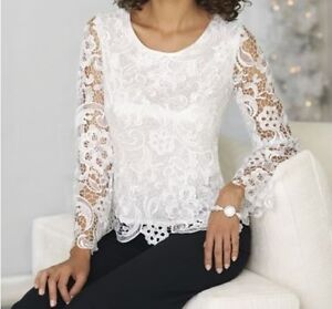Cool Dressy Tops  Short Sleeve Beaded Top From Camille La Vie And Group