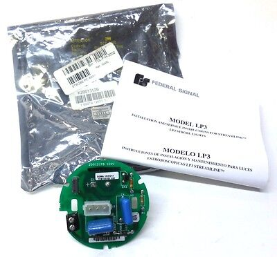 Federal Signal Strobe Pc Board Assembly 52430 Model Lp3 120 Vac