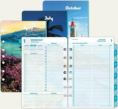Day-timer 13180 Coastlines Planner Refill 2020 Jan-dec 2 Pageday Size 4