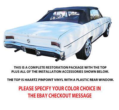 BUICK SKYLARK, SPECIAL & GRANSPORT CONVERTIBLE TOP DO IT YOURSELF PKG 1964-65  Buick Skylark Convertible Top