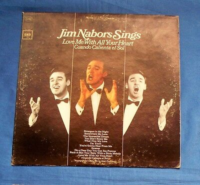Jim Nabors  Sings Love Me With All Your Heart Lp Album 1966 Columbia Cs 9358