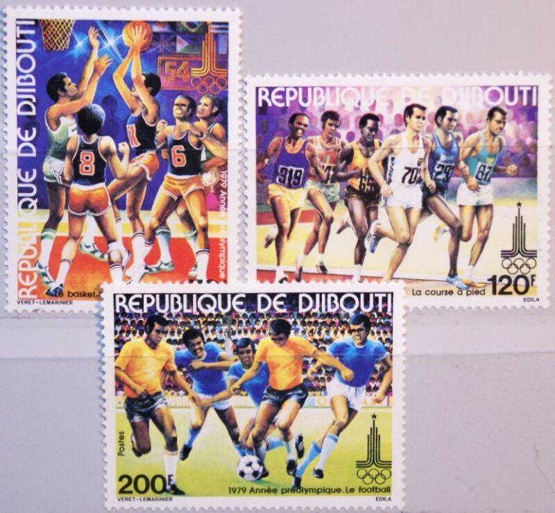 DJIBOUTI DSCHIBUTI 1979 259-61 503-05 Pre Olympic Year Basketball Soccer MNH