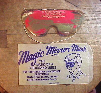 MAGIC MIRROR MASK  Halloween Space Age  YOU STAY INVISIBLE & SEE EVERYTHING