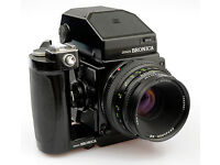 Bronica ETRS with EAII Prism finder speed grip and extra 220 back