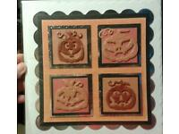 "Halloween greeting card 8"" square"