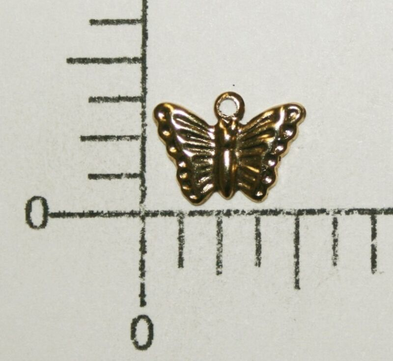 34621         12 Pc  Antique Gold Butterfly Jewelry Finding Charm SALE