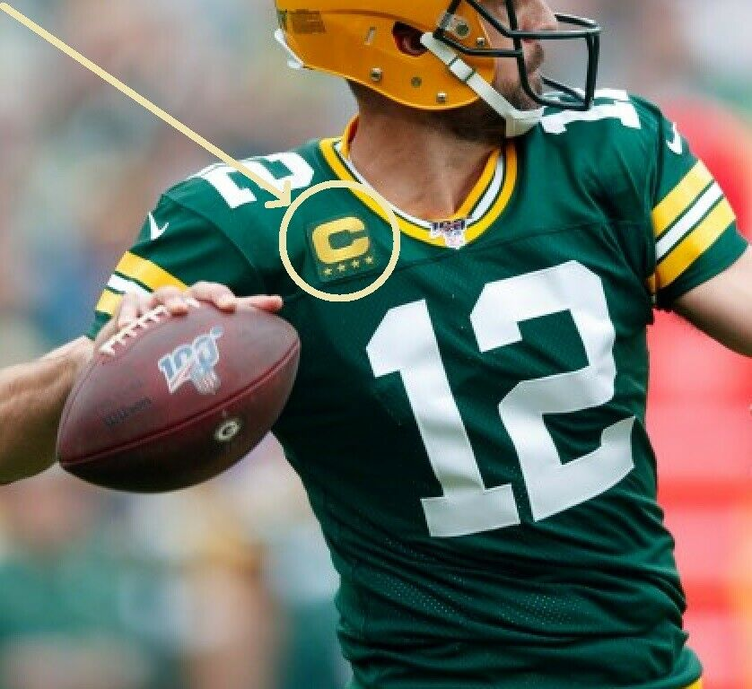 2019 Season GREEN BAY PACKERS Aaron Rodgers QB CAPTAINS 4-⭐-Star ...