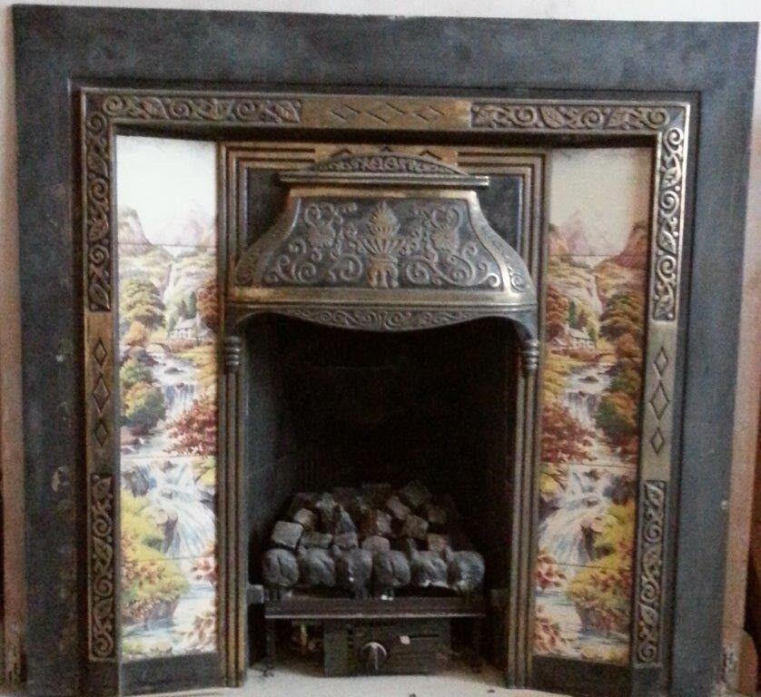 Terrific Tiled Fireplace Inserts Download Free Architecture Designs Pushbritishbridgeorg
