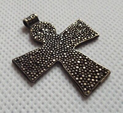 Very RARE Viking cross with symbolic crucifixion, granulation and gilding