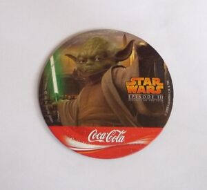 STAR-WARS-Promo-Coaster-REVENGE-of-The-SITH-Thailand-YODA-Coca-Cola-2005