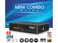 AMIKO COMBO CABLE BOX WITH 12 MONTH GIFT MAG BOX HD SD SKYBOX