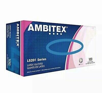 Ambitex Latex Gloves - 100box New - Sealed Boxes