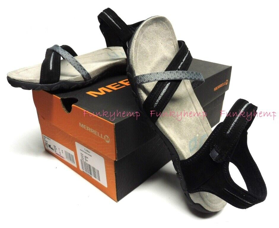 NIB Merrell Women s Terran Cross II Performance Footwear Sandals J55306 Black  - $36.88