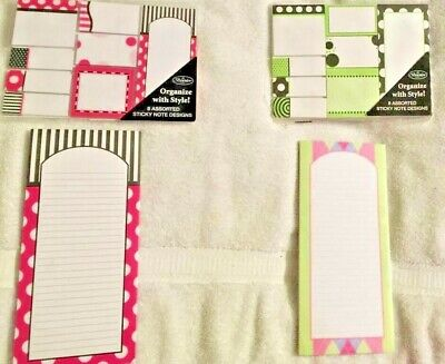 Brownlow Gifts A Lot Of 16 Sticky Note Designs And 2 Magnetic Note Pads New