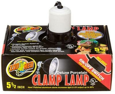 Zoo Med Deluxe Porcelain Clamp Lamp, Black, - Zoo Med Porcelain Clamp Lamp