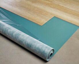 New unopened roll of XTRAFLOOR - BASE UNDERLAY 10 Sq Meters Moduleo for Vinyl Click Flooring
