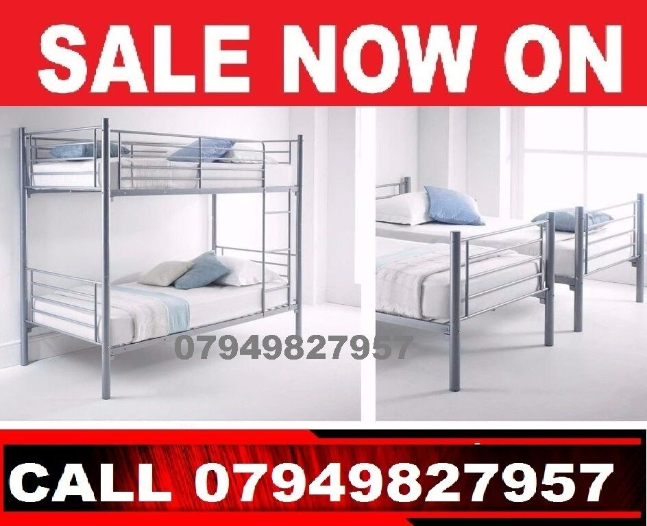 caniry Single Metal bunk in 2 single Bedin Croydon, LondonGumtree - CONDITION BRAND NEWBUNK BED PRICE 89BUNK BED WITH MATTRESS 189WE CAN DELIVER THAT TO YOU