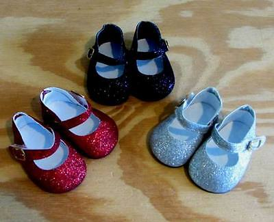 Shoe Lot RED BLACK SILVER GLITTER Shoes for 18