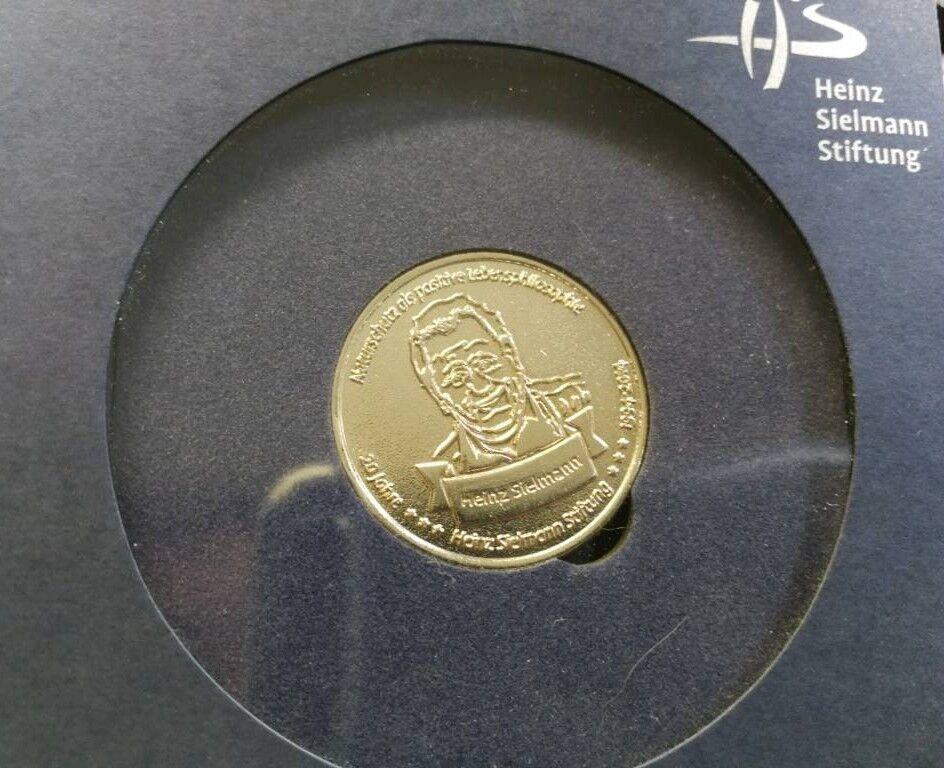 Heinz Sielmann Stiftung Münze 20 Jahre Jubiläumsmünze silberfarbe in Nordrhein-Westfalen - Altena