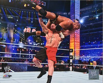 BROCK LESNAR WWE PHOTO WRESTLEMANIA 8x10 WRESTLING PROMO UFC