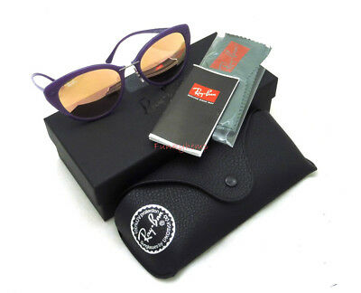 f9101923b1 NWT Authentic Ray-Ban RB4250 Violet Copper Mirror Cat Eye 52-18-