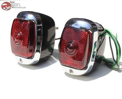 40-53 Chevy First Series Pickup Truck Rear Tail Lamp Lights Right Left Hand Set