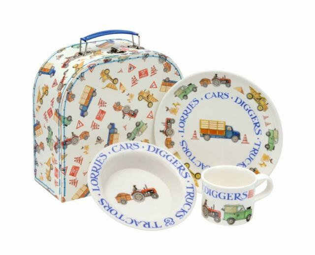 Emma Bridgewater Men At Work 3-Piece Melamine Feeding Set in Case