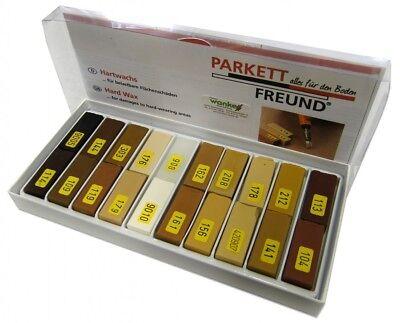 Parkettfreund Hartwachs-Set Parkettreparatur (20 Holztöne) ()