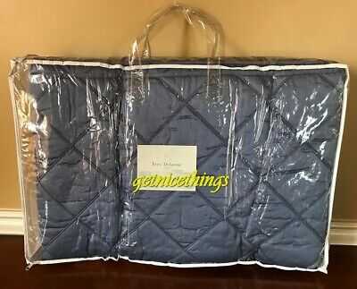 yves delorme triomphe baltic blue queen quilted