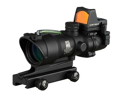 ACOG 4x32 Green Fiber Optic Illuminated Rifle Scope with RMR Like Trijicon