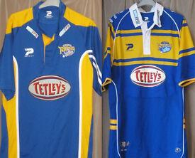 7 LEEDS RHINOS Rugby League Shirts and Merch Bundle, circa 1998-2006