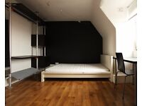 Double Bed in Rooms included in 4-bedroom apartment near University of the Arts London