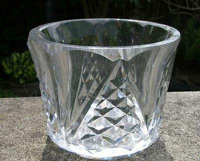 ANTIQUE FRENCH BACCARAT SIGNED HEAVY CUT GLASS CRYSTAL VASE ART DECO PERIOD