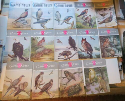 14 1950s Pennsylvania Game News Issues,all Dr. Earle Poole Bird Covers in Color