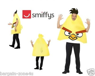 Smiffy's Angry Bird Adult Fancy Dress Party Yellow Costume Clothes Clearance