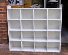 Big White Storage Unit / Cube / Shelf with many Partitions Eastwood Ryde Area Preview