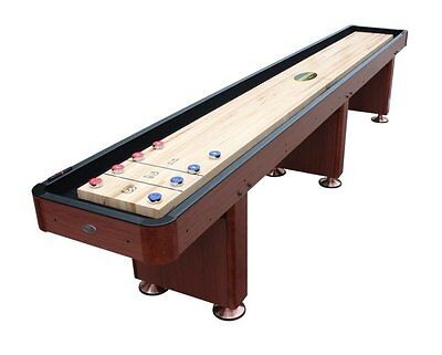 16 FOOT SHUFFLEBOARD TABLE in CHERRY by BERNER BILLIARDS ~ NEW