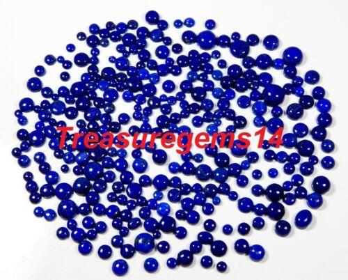 50 CT WHOLESALE LOT 100% NATURAL BLUE LAPIS CALIBRATED ROUND CABOCHON GEMSTONES