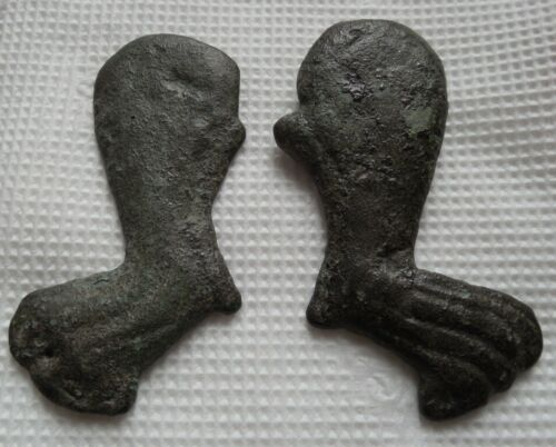 Ancient bronze pair of Scythian animal style plaques/ FREE SHIPPING