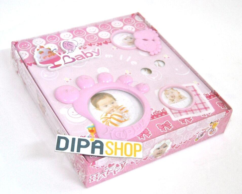 Album Foto Diary Libro Diario Baby Neonato Regalo Bambina Femminuccia Rosa moc