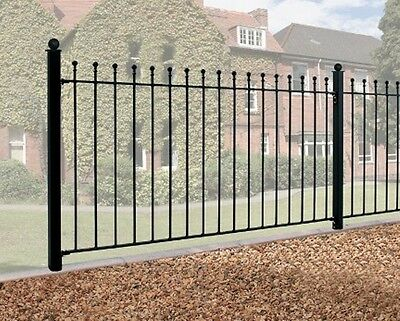 "36"" WROUGHT IRON METAL FENCING/RAILINGS RAILING BALL TOP"