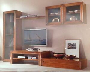 PARETE-ATTREZZATA-CLASSICA-ARTE-POVERA-PORTA-TV-PLASMA-LCD-SOGGIORNO ...