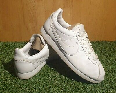 "NIKE Cortez Mens "" All White "" Size 7"