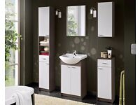SOPRANO BATHROOM Selection of Various Modern White and Mocha Cabinets